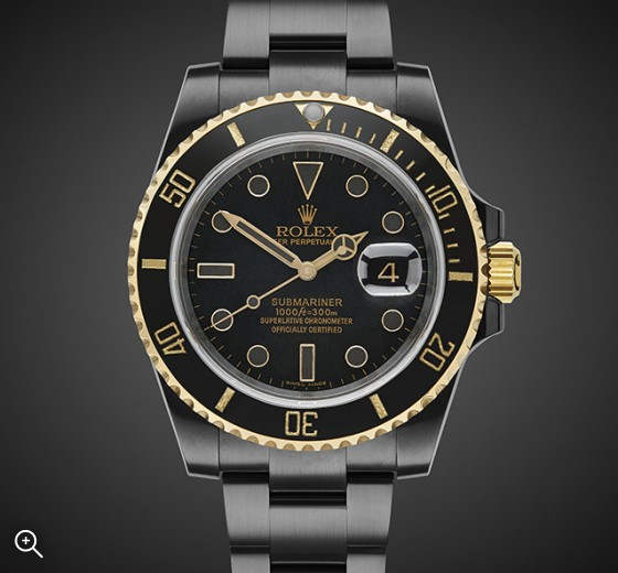 Black DLC Rolex Submariner: Oro