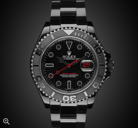 Titan Black DLC Coating Rolex Yacht-Master: Triple Red
