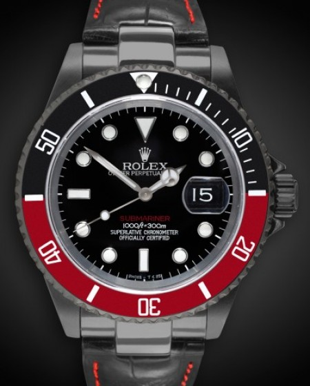 Titan Black DLC Rolex Submariner: Coke