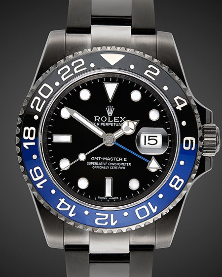 TITAN BLACK ROLEX GMT BLACK PVD DLC