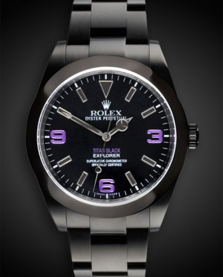 Rolex Explorer (Black Noise) DLC PVD BLACK ROLEX