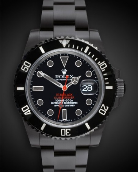 TITAN BLACK Rolex Submariner Stealth DLC BLACK ROLEX PVD