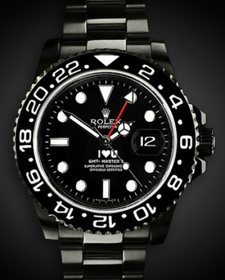 Rolex GMT-Master II I Love You - TBlack DLC Coating