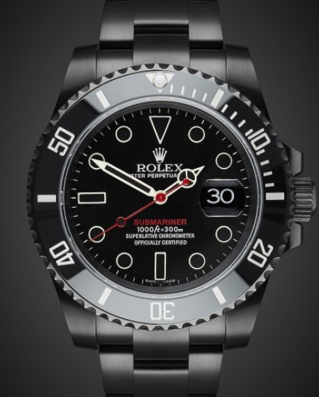 Rolex Submariner Date Titan Black Bespoke Watch PVD Black Coating DLC