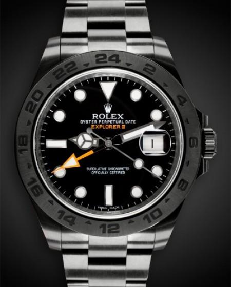 TITAN BLACK ROLEX EXPLORER II DLC PVD BLACK ROLEX