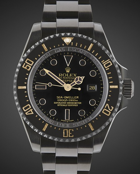 Black DLC Rolex Deepsea: Oro
