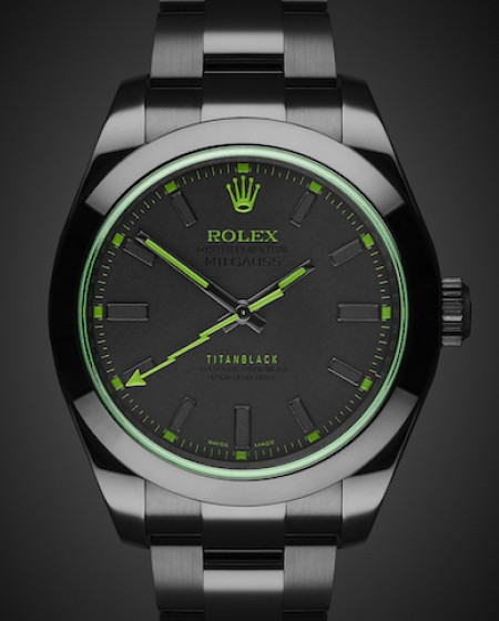 Rolex Milgauss Envy MKII Titan Black DLC Coating Black