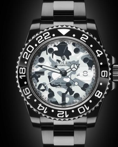 Rolex GMT Master II GMT II Camo Camouflage Titan Black Bespoke Design