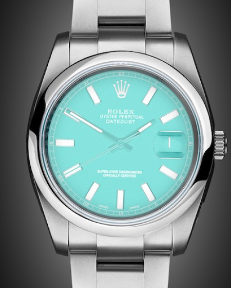 Titan Black Rolex Datejust Tiffany Blue London Bespoke