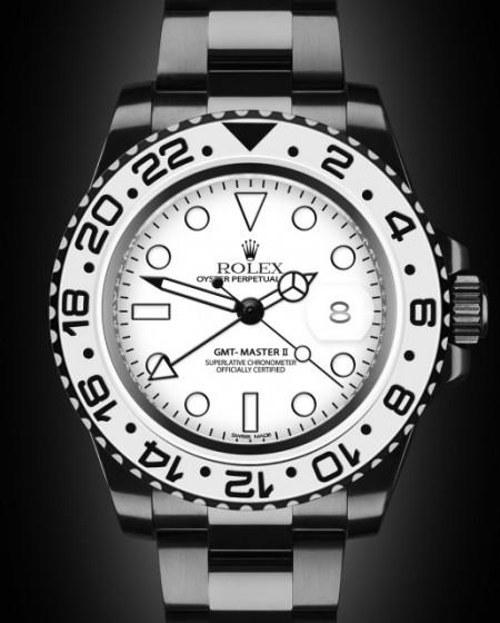Rolex GMT Master II GMT II Oreo White Titan Black Bespoke Design