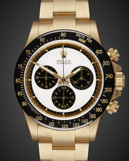 Rolex Daytona Paul Newman Yellow Gold Oro Sandblast Titan Black