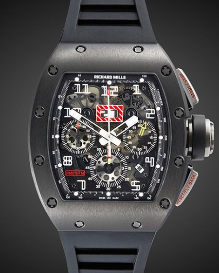 Black DLC Richard Mille RM 011 Nero