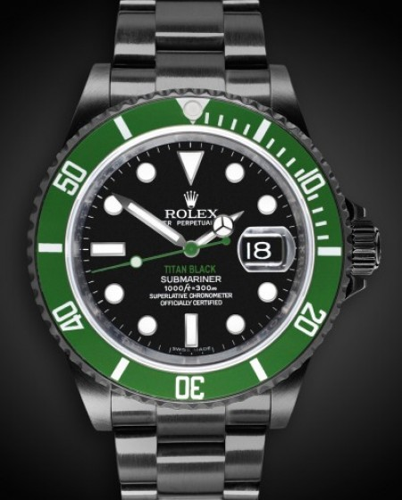 TITAN BLACK Rolex Submariner Poison DLC BLACK ROLEX PVD