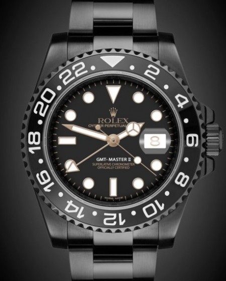 Titan Black GMT-Master II Eclipse London Bespoke Watches