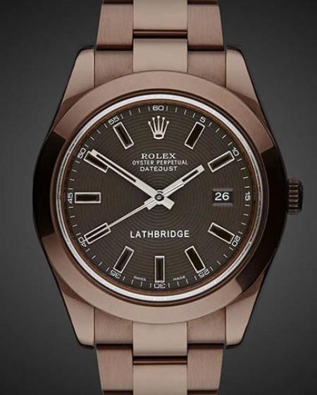 Titan Black Lathbridge Rolex Datejust II by Patrick Cox