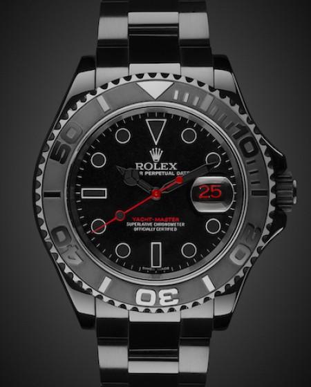 Titan Black DLC Coating Rolex Yacht-Master: Triple Red