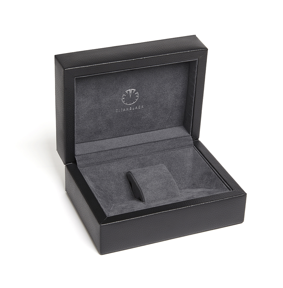 Luxury Titan Black Vachetta Leather Watch Box