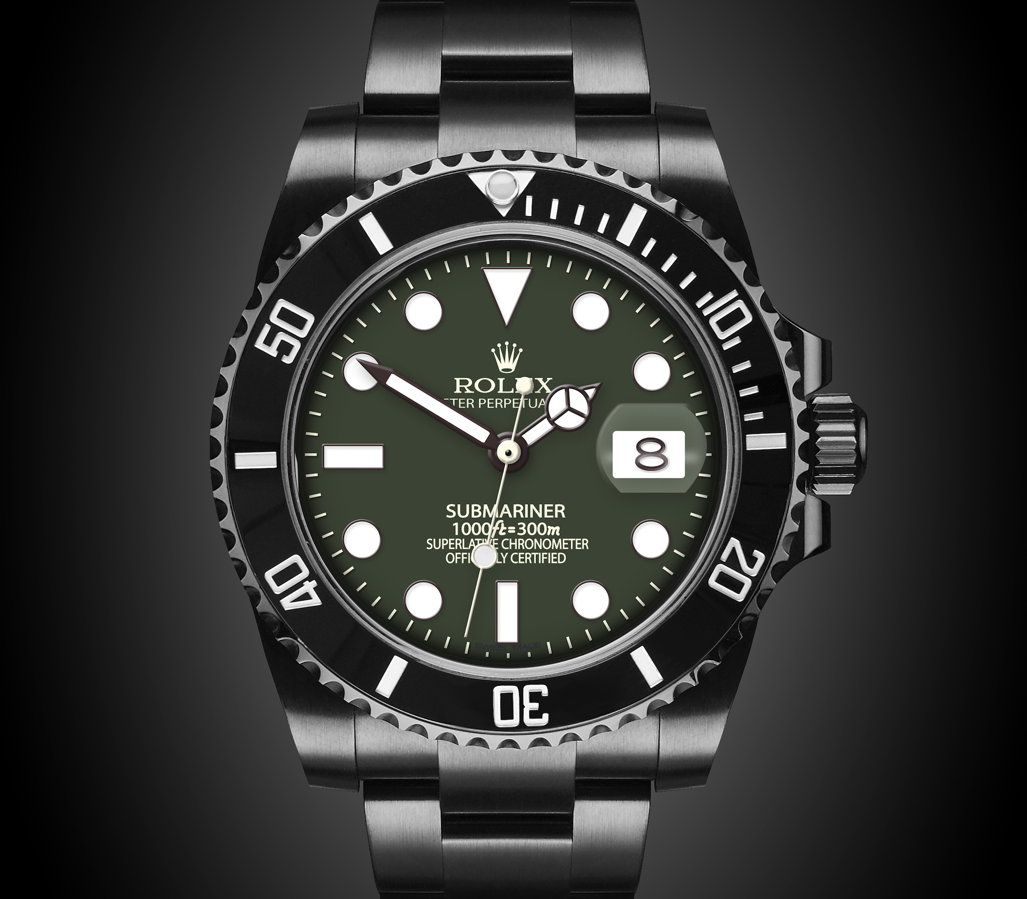 mariner steel hulk front iconic stainless watches rolex green sub date dial submariner